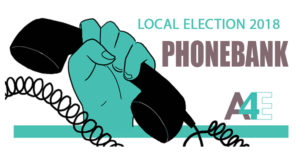 2018 Local Election Phonebank @ A4E office | Athens | Georgia | United States