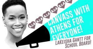 Canvass for LaKeisha Gantt! @ A4E office | Athens | Georgia | United States